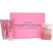 Animale Temptaion women fragrance 3 Piece Set 3 Piece Gift Set 3.4 oz Eau De Parfum EDP Spray + 3.4 oz Body Lotion + 3.4 oz Shower Gel