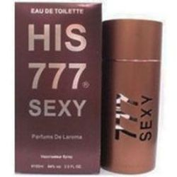 His 777 Sexy by Parfums de Laroma for Men 3.3 oz Eau De Toilette EDT Spray