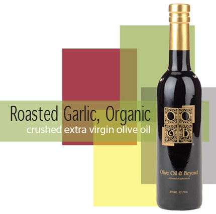 Bottle of Garlic Organic Extra Virgin Olive Oil