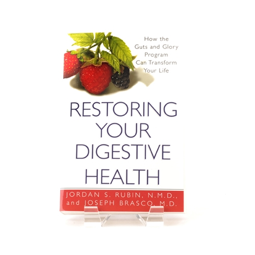 Book cover for Restoring Your Digestive Health - How the Guts and Glory Program Can Transform Your Life