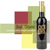 Bottle of Crushed Basil - Organic Extra Virgin Olive Oil