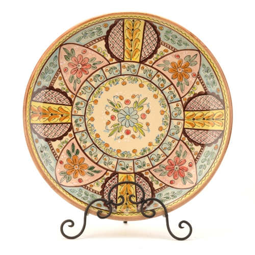 Large Spanish Serving Plate, Mosaic