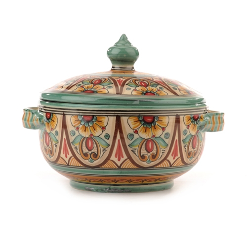 Spanish Covered Tureen- Antique Green