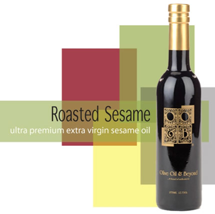 Bottle of Roasted Sesame Extra Virgin Olive Oil