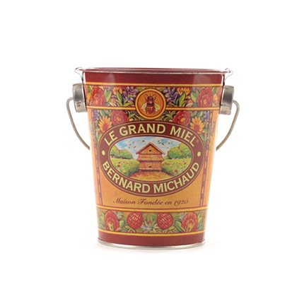 Jar of 1000 Flower Honey in Deco Pail