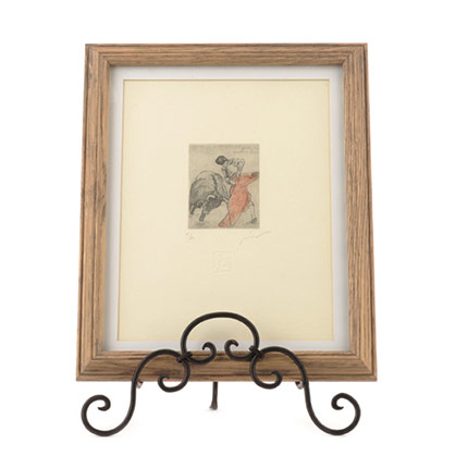 Signed & Numbered Bullfight Print, Small
