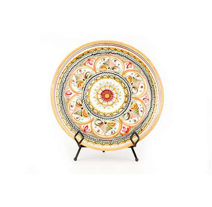Large Round Serving Platter- Yellow