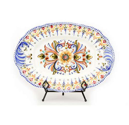 Oval Serving Platter- Multicolor