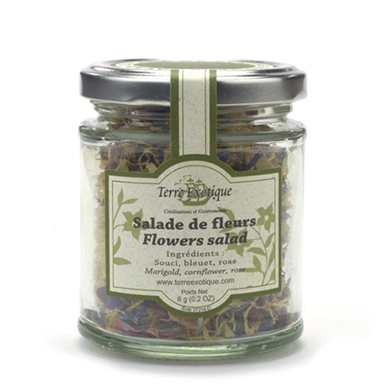 Flowers salad Jar
