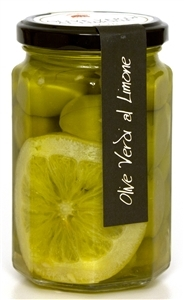 Jar of Green Olives & Lemon