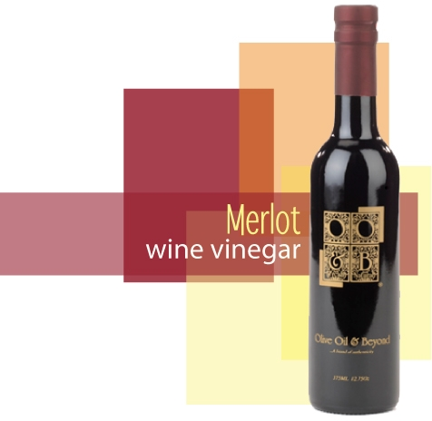 Bottle of Merlot Wine Vinegar