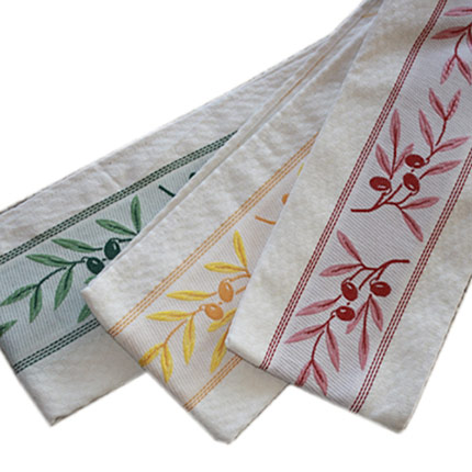 Olive Design Hand Towel, Set of 3