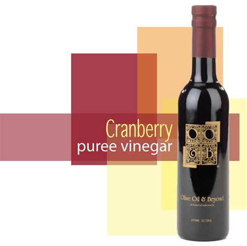 Bottle of Cranberry Puree Vinegar