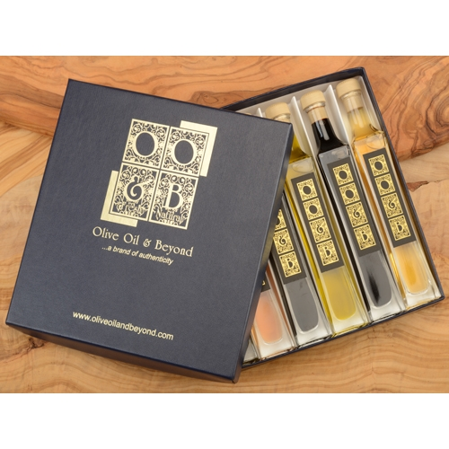 Rich & Savory Olive Oil Balsamic Vinegar Gift Set - Blue