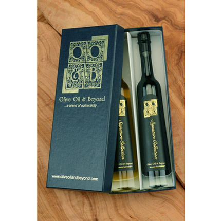 Sicilian Lemon White Balsamic Vinegar and SR 1300 Balsamic Gift Set - Signature Blue