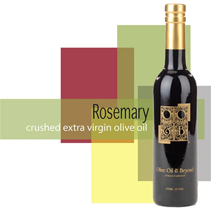 Bottle of Crushed Rosemary Organic Extra Virgin Olive Oil
