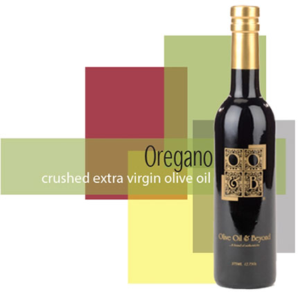 Bottle of Crushed Oregano Extra Virgin Olive Oil