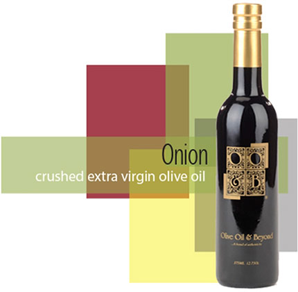 Bottle of Onion Extra Virgin Olive Oil, Organic