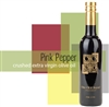 Bottle of Pink Pepper Extra Virgin Olive Oil, Organic