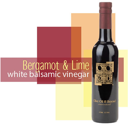 Bottle of Bergamot & Lime White Balsamic Vinegar