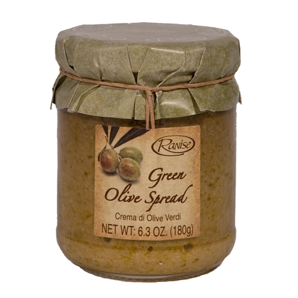 Jar of Green Olive Spread