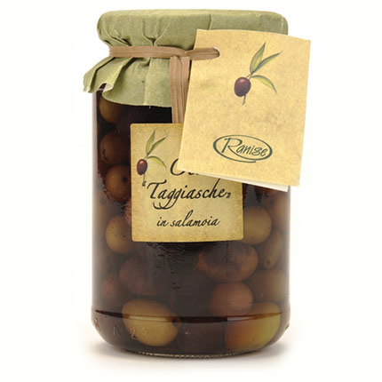 Jar of Taggiasca Olives in Brine