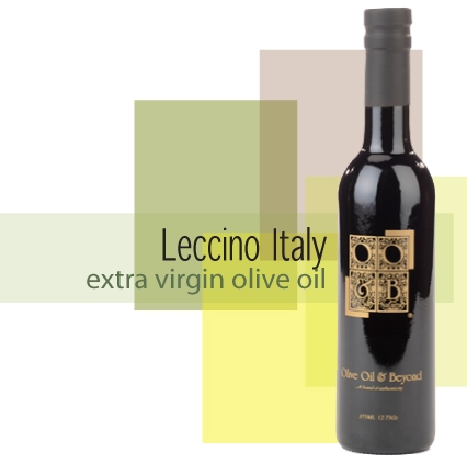 Bottle of Leccino Extra Virgin Olive Oil, Organic, Italy