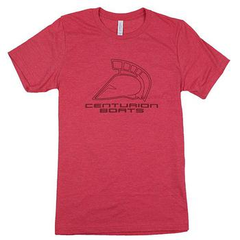 Centurion Stacked Tee - Heather Red
