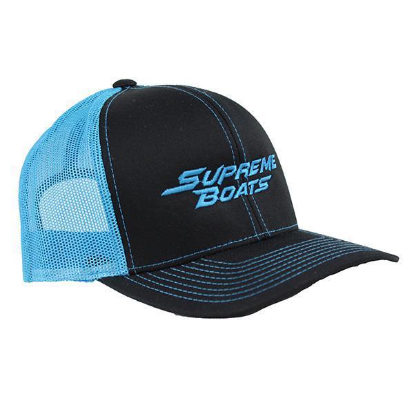 Supreme Trucker Cap - Black   Neon Blue 4f58ad86fa2