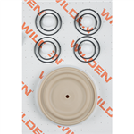 Wilden 02-9815-55-201 Wet Kit, 1'' Advance Bolted, All Plastics, Full Stroke PTFE w/Wil-Flex Back-up (1'' A/P/TWS)