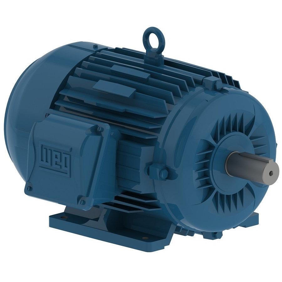 Weg 05018ep3e326t motor 50 hp 1770 rpm 3 phase 326t for Weg severe duty motor