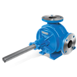 "Viking H32 rotary gear pump, 1"" NPT ports, standard iron construction, no relief valve, bronze bushings, packed stuffing box"