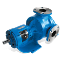 "Viking KK124A-IRV rotary gear pump, 2"" NPT ports, standard cast iron construction with relief valve, bronze bushings, packed stuffing box"