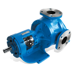 "Viking L124A-IRV rotary gear pump, 2"" NPT ports, standard cast iron construction with relief valve, bronze bushings, packed stuffing box"