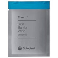 Coloplast 12021 120215 Brava (formerly Ostomy Care) Skin Barrier Wipes, Box of 30 wipes
