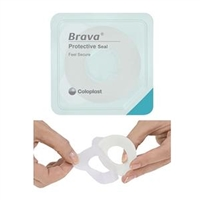 Coloplast 12037 Brava Protective Seal Moldable Ring - 1-1/8 inch (27mm) starter hole, 2.5mm (Thin),  Box of 10 rings