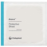 "Coloplast 32105 Brava Skin Barrier Protective Sheets - 4"" x 4"", Box of 10 sheets"