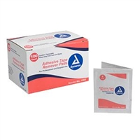 Dynarex 1505 Adhesive Tape Remover Pads, Box of 100