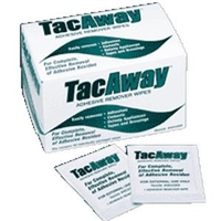 Torbot MS408W TacAway Adhesive Remover Wipes, Box of 50