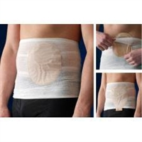 "Nu-Hope 5103 Carefix Ostomy Pouch Cover and Support, Medium, 23(1/2)"" to 33(1/2)"", One package of three"