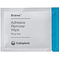 Coloplast 120115 Brava Adhesive Remover Wipes, Box of 30 wipes