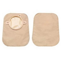 "Hollister 18752 New Image 7"" Closed Mini-Pouch - Flange 1(3/4)"", Green, Beige Opaque, No Filter, Box of 60"