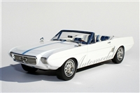 1963 Ford Mustang II Concept 1:24 White with Blue Stripes with Removable Hardtop