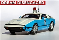 1974 Bricklin SV1 Standard Edition for Scottsdale Police Team 2 in White over Blue 1:43