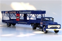 Art Castor's 1950's Ford F600 Tractor & 4-Car Carrier 1:43