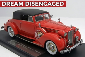 1938 Packard Twelve Convertible Victoria 1:43 Museum Edition Chinese Red