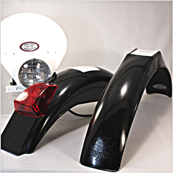 IB Muder IT Rear fenders Black White  HLNP