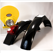IB Muder IT Rear fenders Black yellow HLNP
