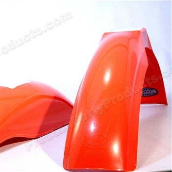 dark orange MX front and MX rear fender set