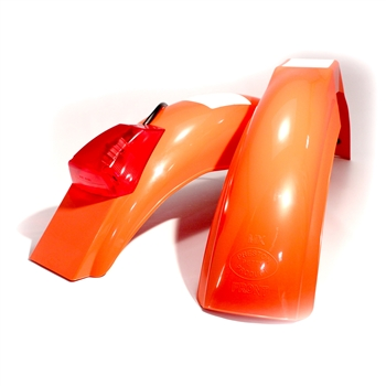 MX front and IT rear fenders Dark Orange